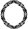 oval frame with floral pattern vector image