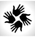 Black Hand Print icon vector image