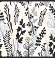 botanical grass seamless pattern vector image