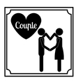 couple life design vector image