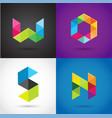 creative digital letter colorful icons logos vector image