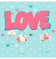 Declaration of Love card design vector image