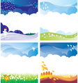 Four season backgrounds set vector image