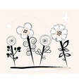 Summer floral graphic vector image