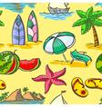 summer seamless vector image