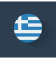 Round icon with flag of Greece vector image
