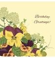 Vintage flowers background vector image vector image