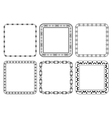set of frames - decorative squares vector image vector image