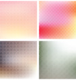 Soft patterned backgrounds vector image vector image