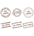 GM free stamps vector image vector image