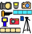 set of cameras vector image vector image