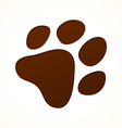 brown footprint vector image