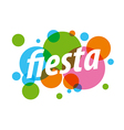 Abstract colorful logo for fiesta vector image