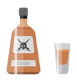 Alcohol drink bottle vector image