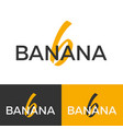 banana logo letter b logo logo template vector image