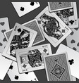 black and white playing cards background vector image