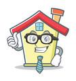 businessman house character cartoon style vector image