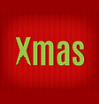 cardboard text for a christmas design vector image