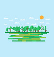 forest in flat style summer eco lifestyle vector image