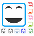 happy smile framed icon vector image