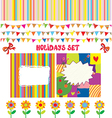 Holidays or party design elements set vector image