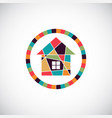 house abstract real estate background realty vector image