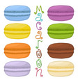 icon logo for pile colorful macaroons vector image