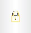 lock symbol stylized logo vector image