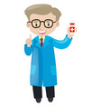 pharmacist holding box of medicine vector image