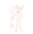 Red dot shape of deer vector image