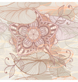 Seamless elegant floral pattern vector image