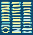 set of ribbons and baaners vector image