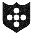 Shield Grainy Texture Icon vector image