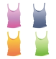 Singlet template Woman top vector image