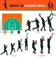 Basketball Infographics set vector image