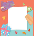 paper copyspace with fruit popsicles icecream vector image
