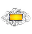frame for text gears of the mechanism industrial vector image