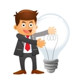 Businessman idea vector image vector image