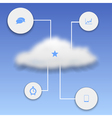 Realistic cloud with elements of infographics vector image vector image