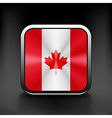 Canada icon flag national travel icon country vector image