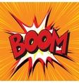 Boom explosion comic book text pop art vector image