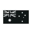 Australia Flag on white background vector image