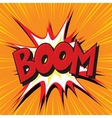 Boom explosion comic book text pop art vector image