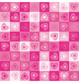 Cute heart seamless background vector image