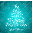 Stylized Colorful Christmas Card vector image