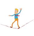 walking on string vector image