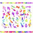 watercolor arrow icons se vector image