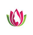 Beauty flowers design logo Template vector image