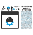 Development Calendar Page Icon With 1000 Medical vector image