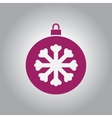new year snowflake Christmas vector image